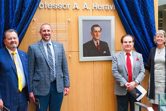 Alumnus Honors his Father with the Dedication of the Professor A.A. Heravi Atrium