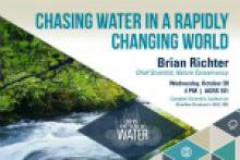 Global Water Expert to Discuss Water in a Changing World