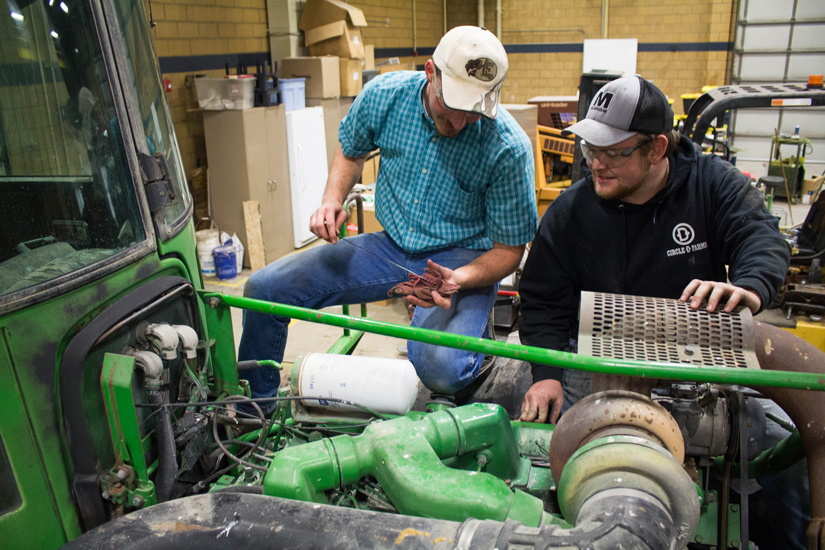 USU Students Practice Skills and Philanthropy with Donated Tractor