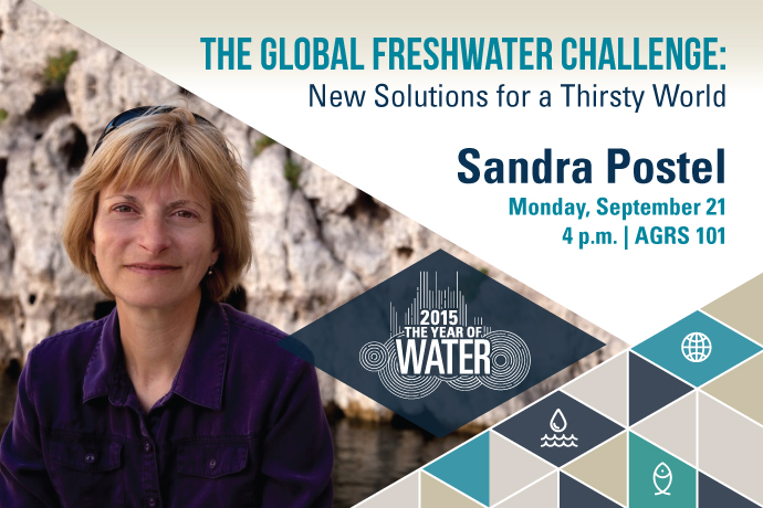 World Water Expert to Discuss the Global Freshwater Challenge